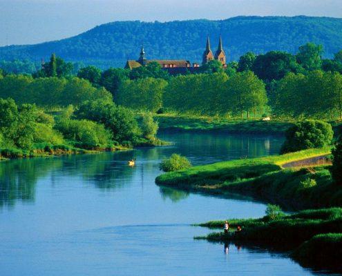 Corvey von der Weser